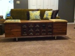 Card Catalog Coffee Table with Storage - $900