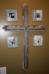 3' Cross with 4 Frames - $85