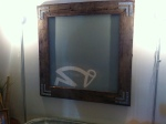 XXL painted art on fabric framed in with reclaimed barnwood $125