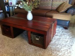 coffee table from a different view (w/baskets $325 /// w/o baskets $225)