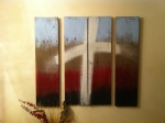 4 wood plank artwork $125