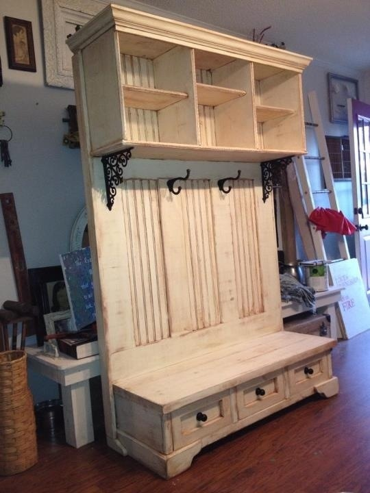 hall bench woodworking plan